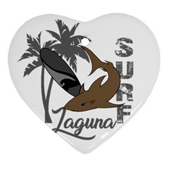 Surf   Laguna Heart Ornament (two Sides) by Valentinaart