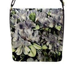 Elegant Flowers A Flap Messenger Bag (l)  by MoreColorsinLife