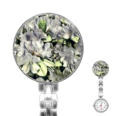 Elegant Flowers A Stainless Steel Nurses Watch by MoreColorsinLife