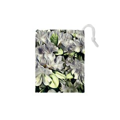 Elegant Flowers A Drawstring Pouches (xs)  by MoreColorsinLife