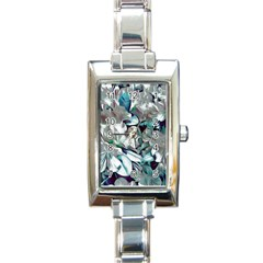 Elegant Flowers C Rectangle Italian Charm Watch by MoreColorsinLife