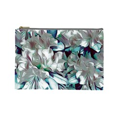 Elegant Flowers C Cosmetic Bag (large)  by MoreColorsinLife