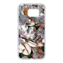 Elegant Flowers B Samsung Galaxy S7 Edge White Seamless Case by MoreColorsinLife