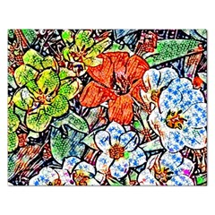 Hot Flowers 02 Rectangular Jigsaw Puzzl by MoreColorsinLife