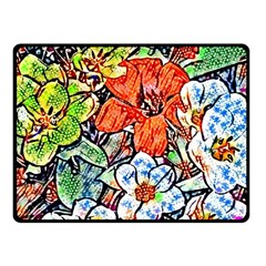 Hot Flowers 02 Fleece Blanket (small) by MoreColorsinLife