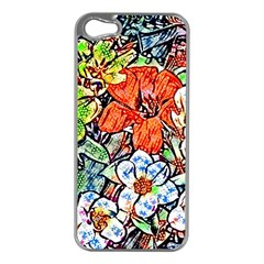 Hot Flowers 02 Apple Iphone 5 Case (silver) by MoreColorsinLife