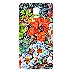 Hot Flowers 02 Galaxy Note 4 Back Case by MoreColorsinLife