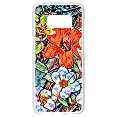 Hot Flowers 02 Samsung Galaxy S8 White Seamless Case by MoreColorsinLife