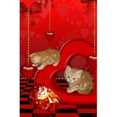 Cute, Playing Kitten With Hearts 5 5  X 8 5  Notebooks by FantasyWorld7