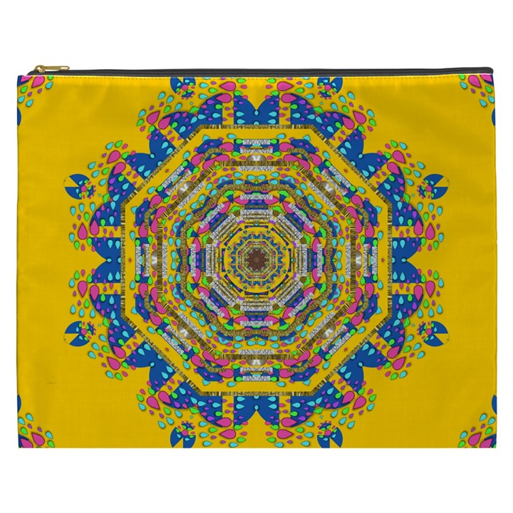 Happy Fantasy Earth Mandala Cosmetic Bag (XXXL)