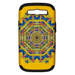 Happy Fantasy Earth Mandala Samsung Galaxy S Iii Hardshell Case (pc+silicone) by pepitasart