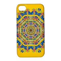 Happy Fantasy Earth Mandala Apple Iphone 4/4s Hardshell Case With Stand by pepitasart