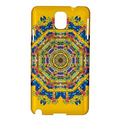 Happy Fantasy Earth Mandala Samsung Galaxy Note 3 N9005 Hardshell Case by pepitasart