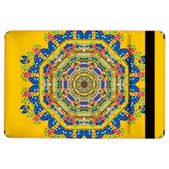 Happy Fantasy Earth Mandala Ipad Air 2 Flip by pepitasart
