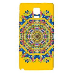 Happy Fantasy Earth Mandala Galaxy Note 4 Back Case by pepitasart
