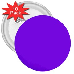 Neon Purple Solid Color  3  Buttons (10 Pack)  by SimplyColor