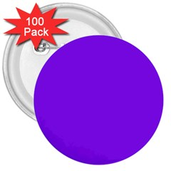 Neon Purple Solid Color  3  Buttons (100 Pack)  by SimplyColor