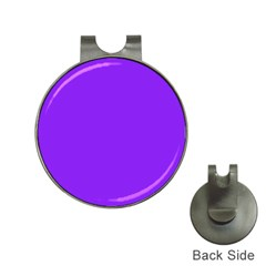 Neon Purple Solid Color  Hat Clips With Golf Markers by SimplyColor