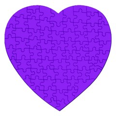 Neon Purple Solid Color  Jigsaw Puzzle (heart) by SimplyColor