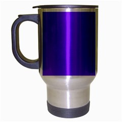 Neon Purple Solid Color  Travel Mug (silver Gray) by SimplyColor