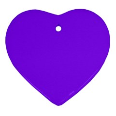 Neon Purple Solid Color  Heart Ornament (two Sides) by SimplyColor
