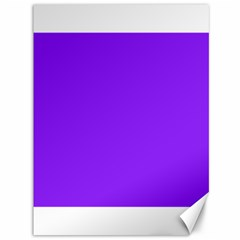 Neon Purple Solid Color  Canvas 36  X 48   by SimplyColor