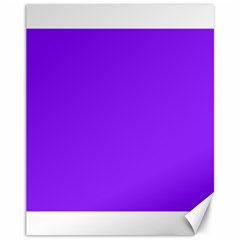 Neon Purple Solid Color  Canvas 11  X 14   by SimplyColor