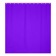 Neon Purple Solid Color  Shower Curtain 66  X 72  (large)  by SimplyColor