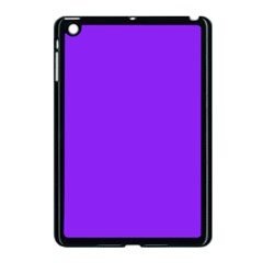 Neon Purple Solid Color  Apple Ipad Mini Case (black) by SimplyColor