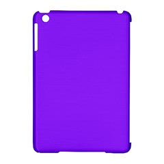 Neon Purple Solid Color  Apple Ipad Mini Hardshell Case (compatible With Smart Cover) by SimplyColor