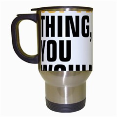 07 Copywriting Thing Copy Travel Mugs (white) by flamingarts