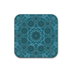 Wood And Stars In The Blue Pop Art Rubber Square Coaster (4 Pack)  by pepitasart