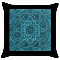 Wood And Stars In The Blue Pop Art Throw Pillow Case (black) by pepitasart
