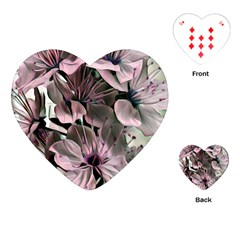 Wonderful Silky Flowers A Playing Cards (heart)  by MoreColorsinLife