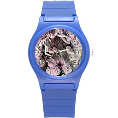 Wonderful Silky Flowers A Round Plastic Sport Watch (s) by MoreColorsinLife