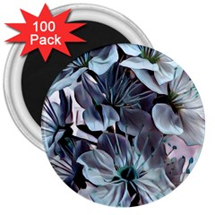 Wonderful Silky Flowers B 3  Magnets (100 Pack) by MoreColorsinLife