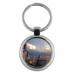 Sailing Into The Storm Key Chains (round)  by oddzodd