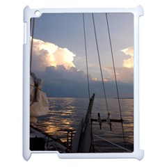 Sailing Into The Storm Apple Ipad 2 Case (white) by oddzodd
