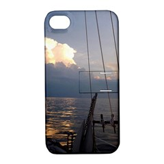 Sailing Into The Storm Apple Iphone 4/4s Hardshell Case With Stand by oddzodd