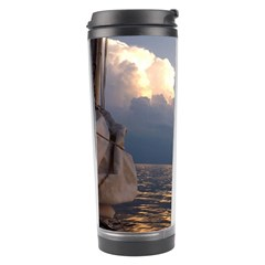 Sailing Into The Storm Travel Tumbler by oddzodd