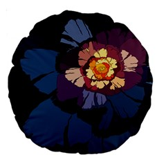 Flower Large 18  Premium Round Cushions by oddzodd