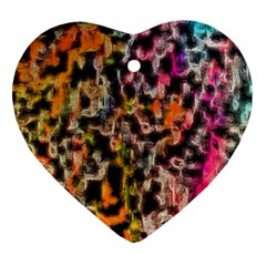 Colorful Texture                     Ornament (heart) by LalyLauraFLM