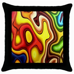 Colorful 3d Shapes                     Throw Pillow Case (black) by LalyLauraFLM