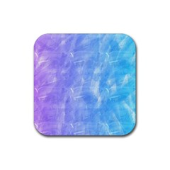 Blue Purple Watercolors                     Rubber Square Coaster (4 Pack by LalyLauraFLM
