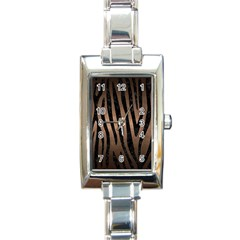 Skin4 Black Marble & Bronze Metal Rectangle Italian Charm Watch by trendistuff