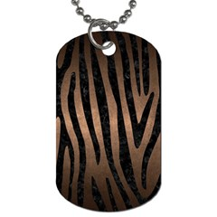 Skin4 Black Marble & Bronze Metal Dog Tag (two Sides) by trendistuff