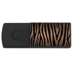 Skin4 Black Marble & Bronze Metal Usb Flash Drive Rectangular (4 Gb) by trendistuff