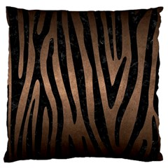 Skin4 Black Marble & Bronze Metal Large Cushion Case (one Side) by trendistuff