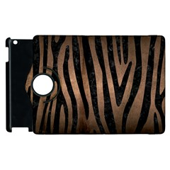 Skin4 Black Marble & Bronze Metal Apple Ipad 3/4 Flip 360 Case by trendistuff