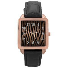 Skin4 Black Marble & Bronze Metal Rose Gold Leather Watch  by trendistuff